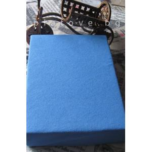 Хавлиен чаршаф с ластик - Синьо