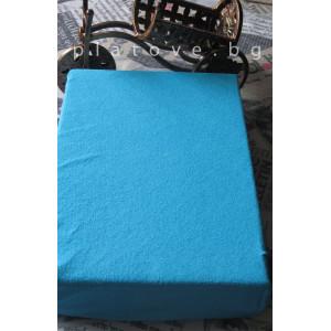 Хавлиен чаршаф с ластик - Тюркоазено Синьо