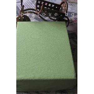 Хавлиен чаршаф с ластик - Зелено